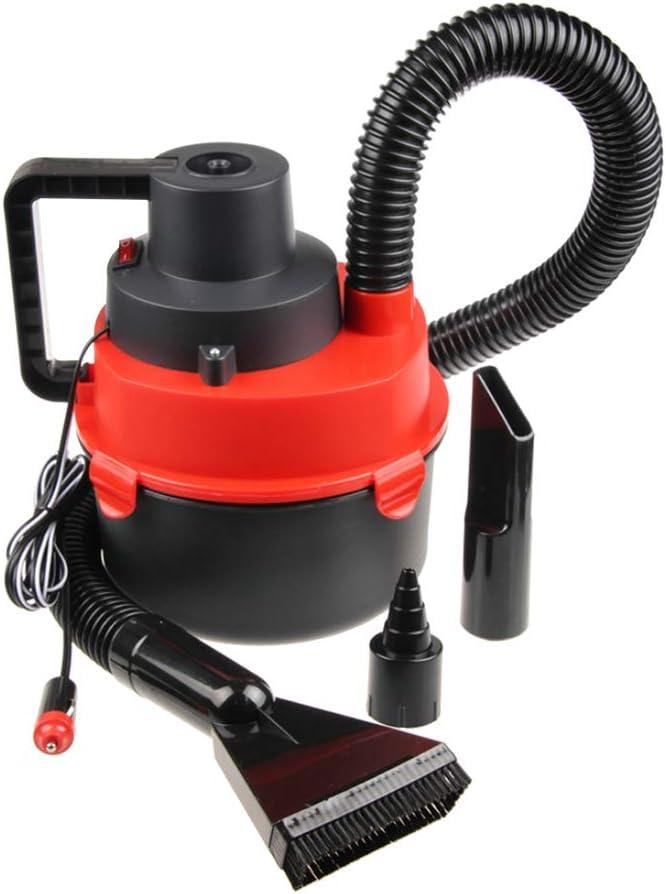 vosarea 12 V coche colector de polvo seco húmedo portátil de alta potencia portátil bolsillo con lámpara de bolsillo Stronge succión aspirador de coche (rojo): Amazon.es: Hogar