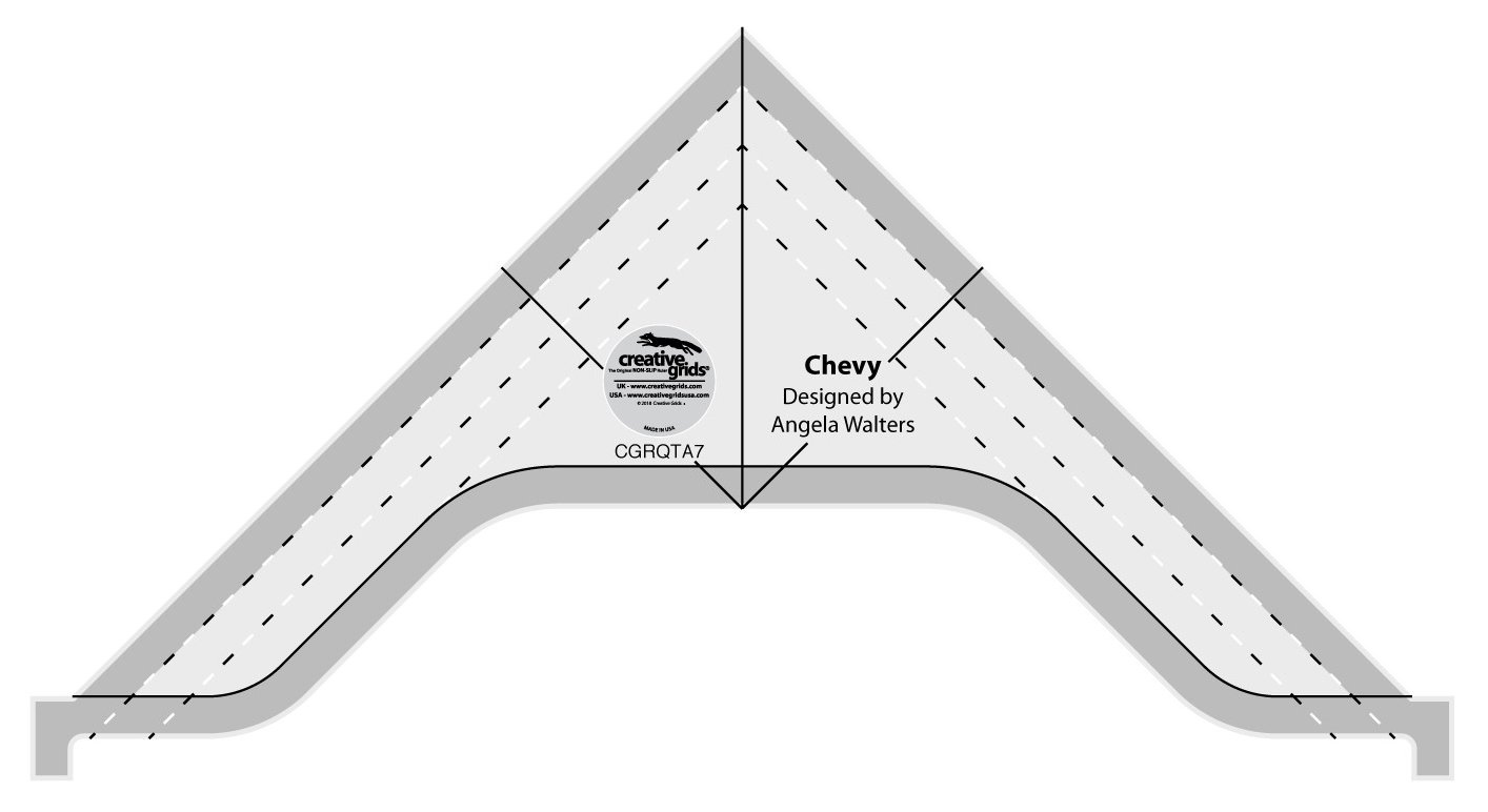 Creative Grids Machine Quilting Tool - Chevy cgrQTA7 by Creative Grids