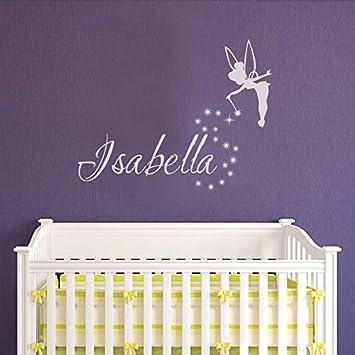 Tinkerbell Nursery Decor Wall Print Faries personalised birth Record
