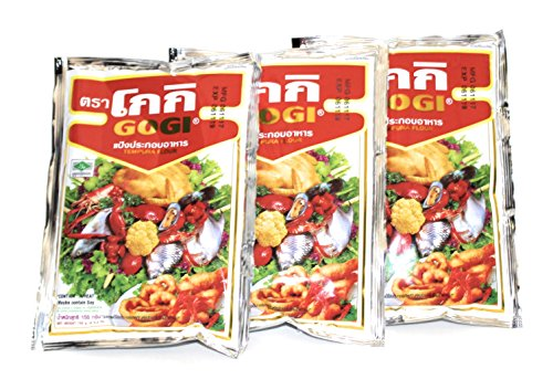 (Gogi Tempura Batter | 3 pack | Traditional Fried Thai Self Rising Flour | 5.3 Oz | 150 g)