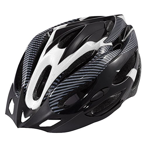 Ezyoutdoor Cycling Safety Motocross scooter Bikes Adult Tourin Multi-Sport Helmet(black and white)