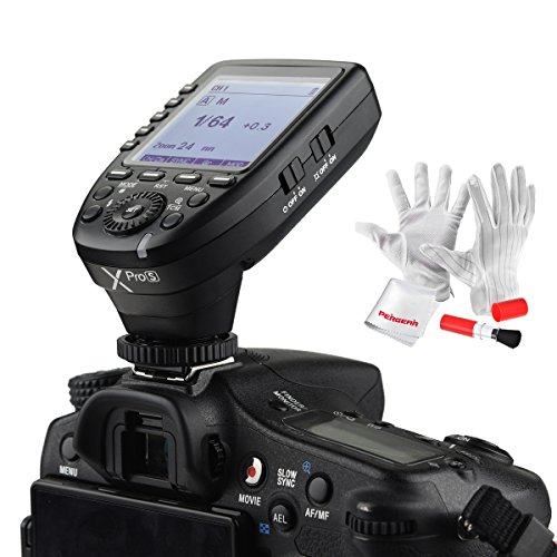 Electronic Slave Unit - Godox Xpro-S for Sony TTL Wireless Flash Trigger 1/8000s HSS TTL-Convert-Manual Function Large Screen Slanted Design 5 Dedicated Group Buttons 11 Customizable Functions