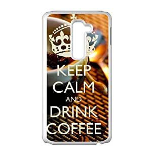 LG G2 Cell Phone Case White Keep Calm Drink Coffee Phone Case Covers Generic XPDSUNTR16040