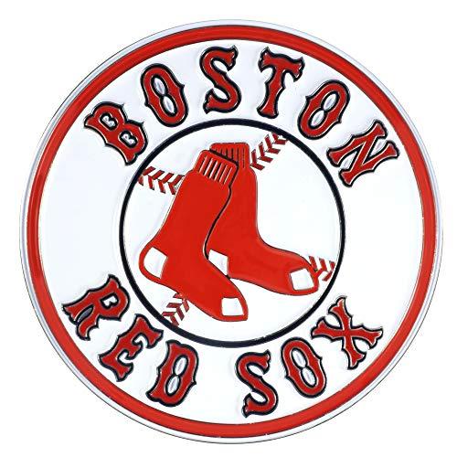 SLS FANMats Boston Red Sox Premium Solid Metal Color Raised Auto Emblem Decal Baseball Boston Red Sox Metal