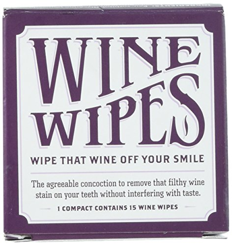 (Wine Wipes 1 Boxes of 15 Individual Wipes)