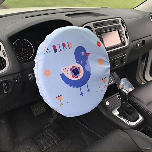 Steering Wheel Cover Car Shade,Cotton,15 Inch,Bird