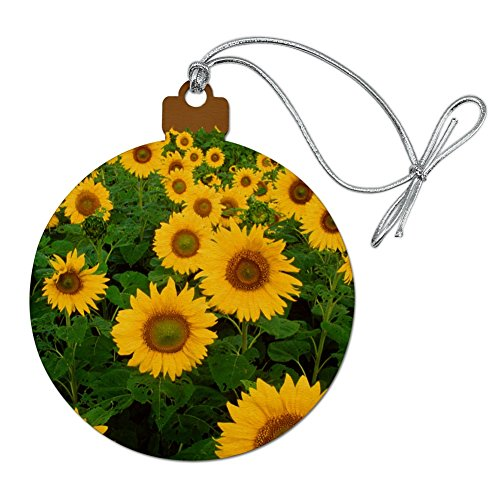GRAPHICS & MORE Field of Sunflowers Wood Christmas Tree Holiday Ornament