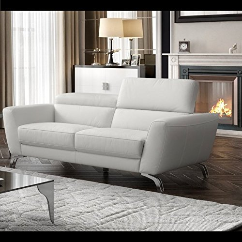 Designer Ledersofa Ledercouch Polstergarnitur Ledergarnitur 2-Sitzer Sofa Couchgarnitur