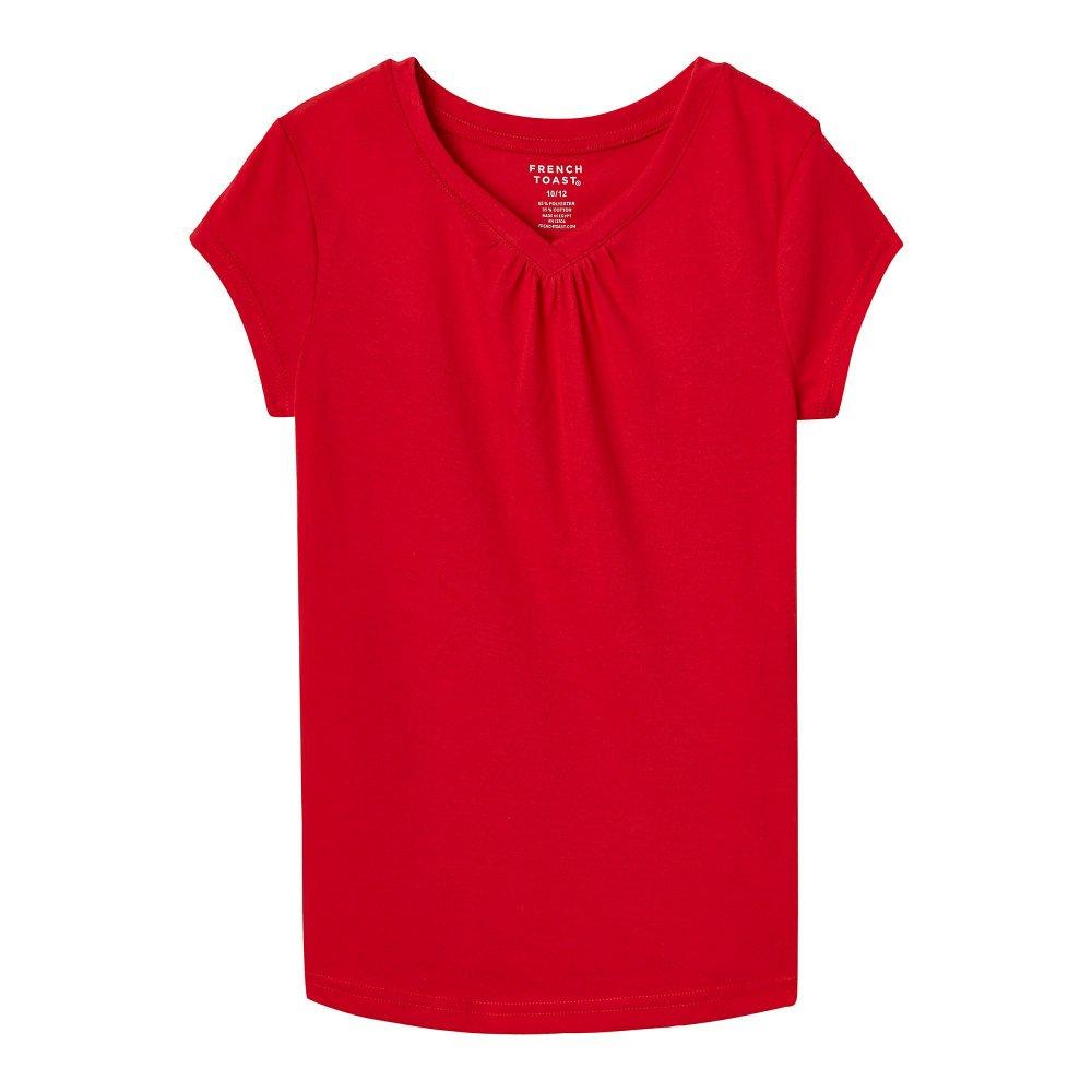French Toast Girls' Short Sleeve V-Neck T-Shirt LA9502