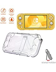 For Nintendo Switch Lite Transparent Shockproof Protective Case with Stand Holder Anti-Scratch