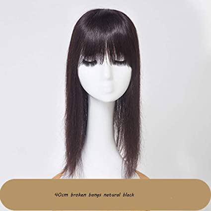 QFFL jiafa Peluca Que Cubre la Parte Superior de la Cabeza Peluca Invisible Transparente Flequillo Peluca