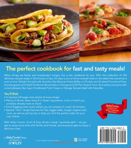 Betty crocker quick easy 30 minutes or less to dinner betty betty crocker quick easy 30 minutes or less to dinner betty crocker cooking betty crocker 9781118230695 amazon books forumfinder Choice Image