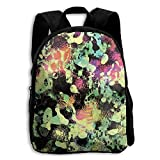 LSD Trippy Psychedelic Mirror Kid Boys Girls Toddler Pre School Backpack Bags Lightweight