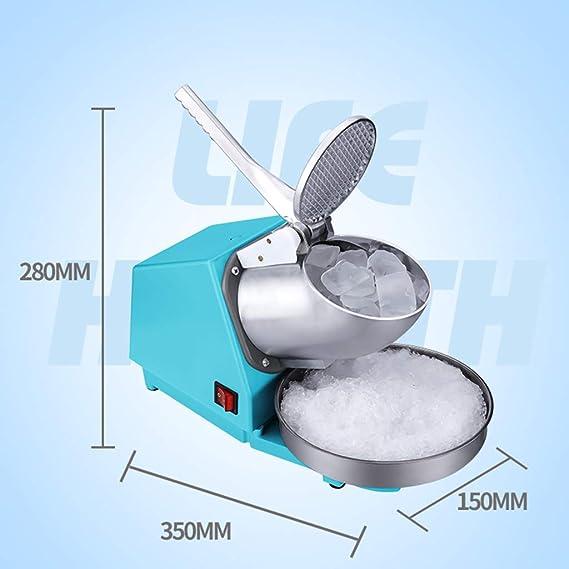 Afeitadora de hielo de doble hoja para uso comercial, máquina de ...