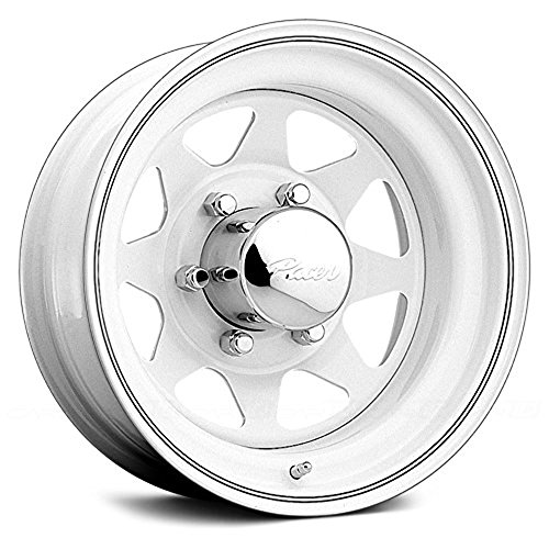 Pacer White Spoke 16x7 White Wheel / Rim 5x5.5 with a 0mm Offset and a 108.70 Hub Bore. Partnumber 310W-7755 (1500 Ram 2001 16 Dodge Rims)