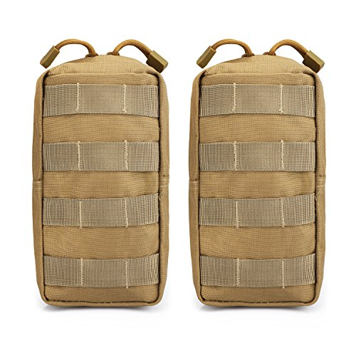 G4Free 2 Pack Tactical Molle Pouches Compact Utility EDC Waist Bag Pack Small Gear Gadget for Chest Vest Tactical - Utility Pouch Pack Waist
