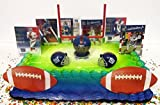 New York Giants Team Themed Birthday Cake Topper Set