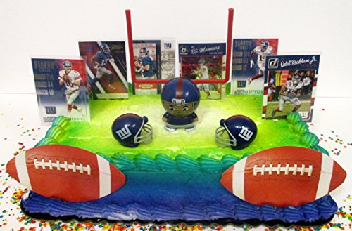 New York Giants Team Themed Birthday Cake Topper (New York Giants Cake)