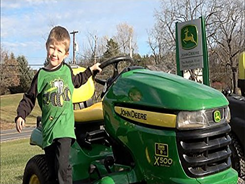 Boy Loves John Deere Lawn Mowers And
