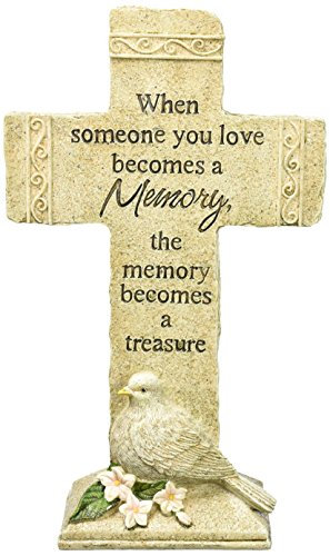 Carson Home Accents Peaceful Reflections Garden Marker, 11.75-Inch High, Memories - Store Hours Mall Memorial