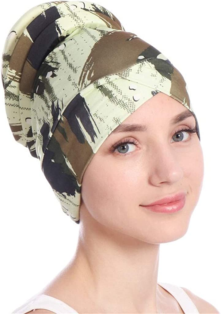 Women Islamic Muslim Hijab Turban Hat Headwrap Scarf Cover Chemo Cap Newly at  Women's Clothing store