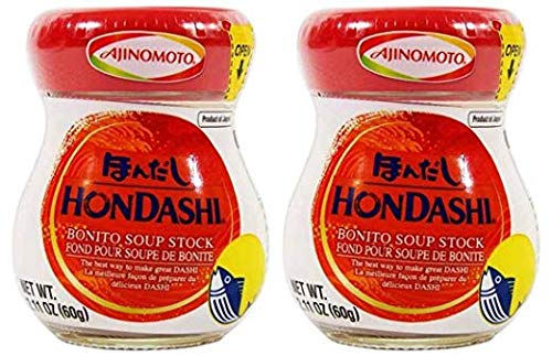Japanese Hon Dashi Bonito Fish Soup Stock - 2.1 oz x 2 bottles