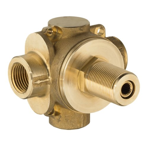 American Standard R420R420 Two Way In-Wall Rough Diverter Valve, Controls Water Flow between Two Outlets (Spout 1/2' Solid Tub Brass)