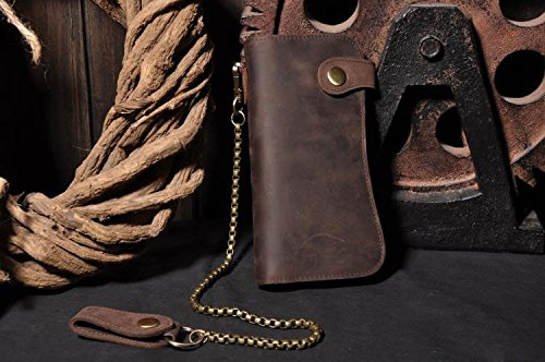 Vintage Leather Trucker Wallet Checkbook product image