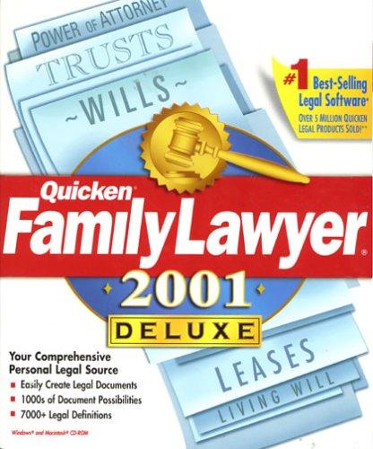 Amazon.com: Quicken Family Lawyer 2001 Deluxe
