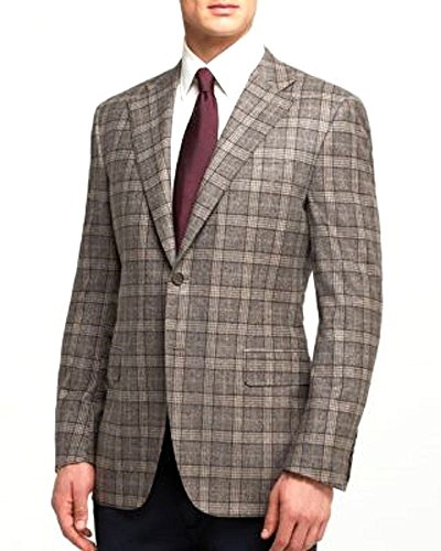 new-1595-canali-gray-tan-camel-glen-plaid-100-wool-blazer-size-eu48-us38r