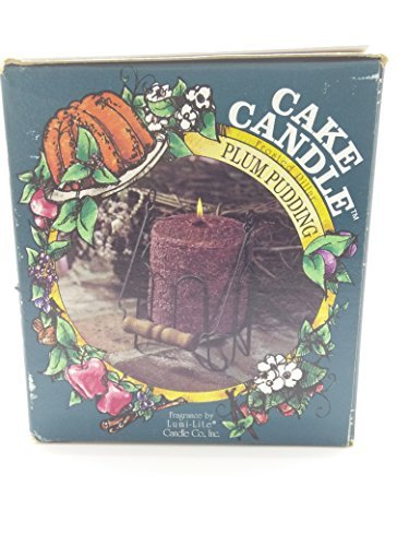Hearth & Home Traditions 20006 4x4.5 Cake Candle - Plum Pudding