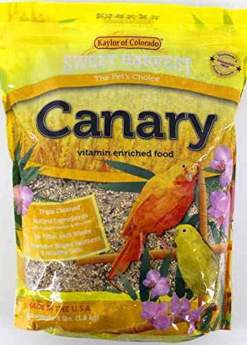 Sweet Harvest Canary Bird Food, 4 lbs Bag - Seed Mix for ()