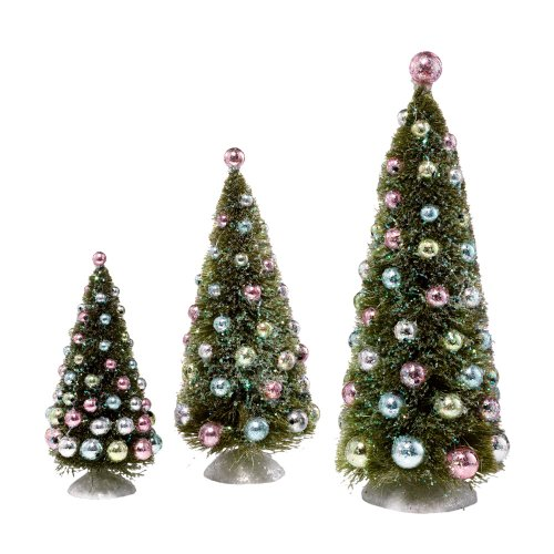Department 56 Snowbabies 25th Anniversary Dream Tree with Ornaments (Set of 3) (Glass True Bisque)