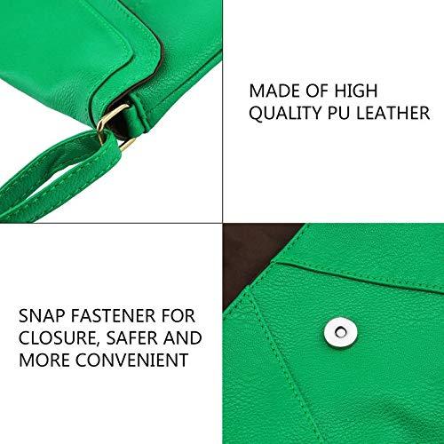 Diagonale A Green Borse Pelle Match match Indossabile Singola Tracolla All Beans Resistente All Da Borsa Tracolla Duramente Pu Harlls In E Design Donna Piccola fUwqCC