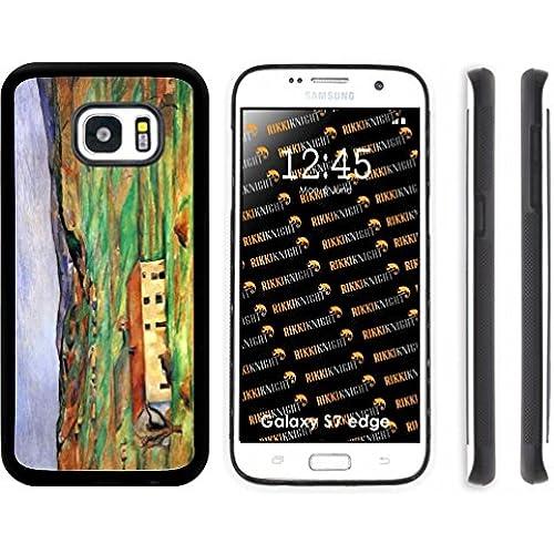 Rikki Knight Paul Cezzane Art Around Gardanne Design Samsung Galaxy S7 Edge Case Cover (Black Rubber with front Sales