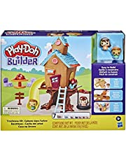 Play-Doh Builder Treehouse Toy Building Kit for Kids 5 Years and Up with 7 Non-Toxic Play-Doh Colors - Easy to Build DIY Craft Set