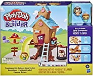 Play-Doh Builder Treehouse Toy Building Kit for Kids 5 Years and Up with 7 Non-Toxic Colors - Easy to Build DI