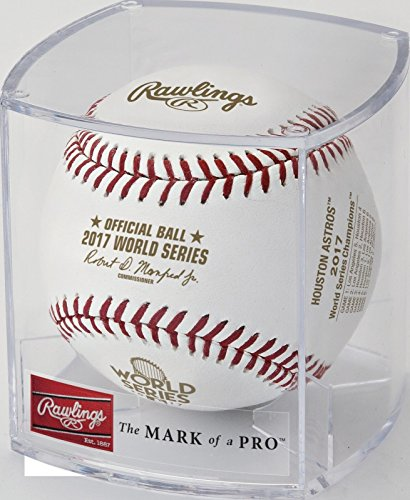 Rawlings Official 2017 World Series Champs Houston Astros MLB Baseball - Has Team Logo & Final Scores on Ball - in factory UV display (Official Mlb World Series)