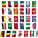 TableRe 164 Feet International String Flags | 200 Countries Flags (1421cm/5.518.27'')