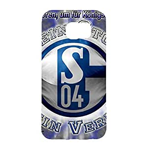 3D Best Football Club With Black And Dark Blue Back Pattern Cover Case For Samsung Galaxy S6 Gelsenkirchen-Schalke 04 Football Club Logo Print Design For Guys
