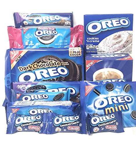 Oreo Cookie Gift Set Includes Hot Cocoa, Pudding, Candy Bars & Cookies -