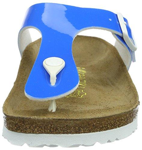 Birkenstock Gizeh Birko-Flor - Sandalias de dedo Mujer Azul - Blau (Neon Blue Lack)