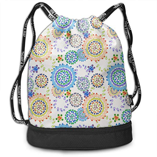 YyTiin Bejeweled Sunflowers Men Women Waterproof Drawstring Backpack Sports Dance Storage Bags Sackpack Gym Traveling Outdoor ()