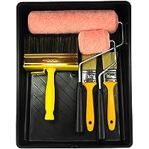 KINGORIGIN 8 piece 9 inch, paint rollers,roller, paint brushes, paint brush,paint kit,stain brushes