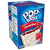 Pop-Tarts Breakfast Toaster Pastries, Frosted Strawberry Flavored, Bulk Size, 96 Count (Pack of 12, 14.7 oz Boxes)