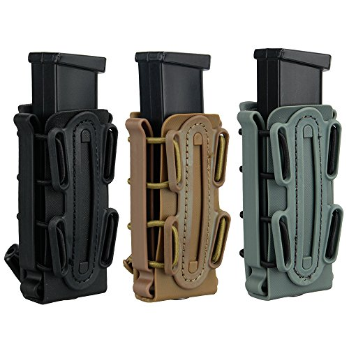 IDOGEAR 9mm Pistol Magazine Pouch Tactical Fastmag Soft Shell Mag Carrier Hunting Airsoft Gear