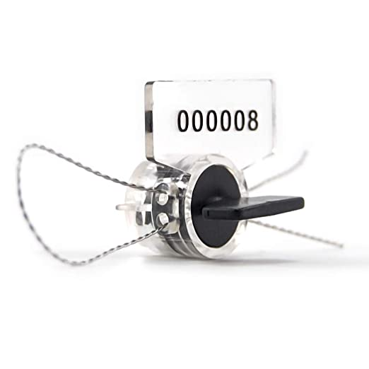 Large Blue Electric Utility Meter Seal High Security Padlock Tag Lockout 100