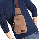 TOOGOO(R) Men's Casual Small Canvas Vintage Shoulder Hiking Crossbody Bicycle Bag Messager bags-coffee