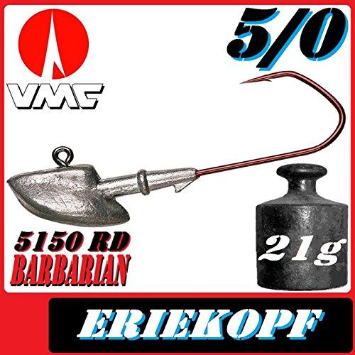 VMC Jigkopfhaken Jigkopf Eriekopf 5/0 21g Jighaken 5 Stü ck im Set Pilkmaxx