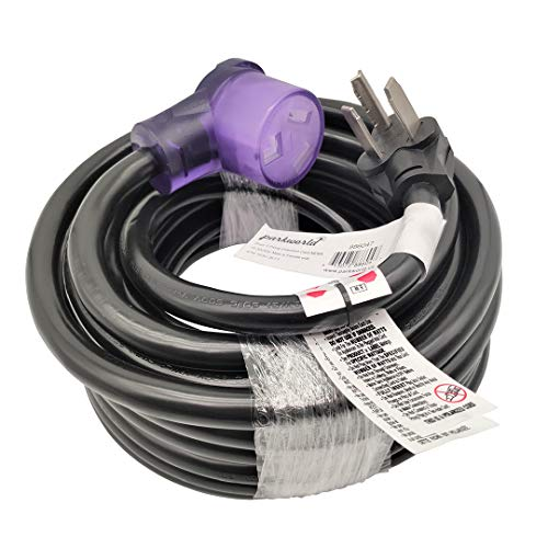 Parkworld 886047 Dryer 3 prong Extension Cord UL Listed, NEMA 10-30 Extension Cord, EV 10-30P to 10-30R with lighted, 30A, 250V, 7500W (36 Feet)